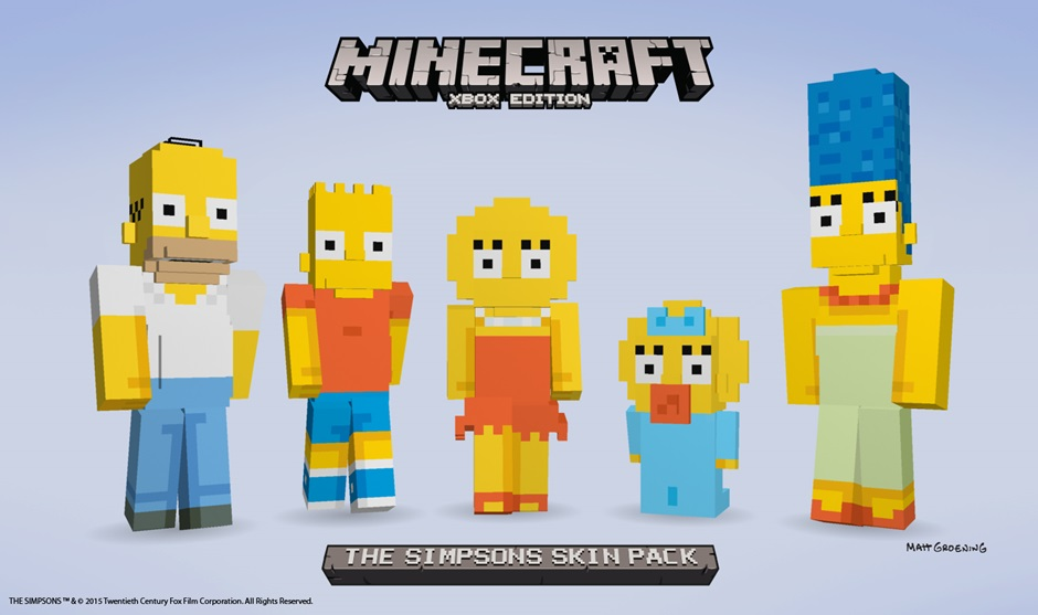 The Simpsons Minecraft Skins Now Available The Springfield Shopper - Skins fur minecraft ps3