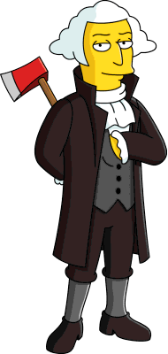 Artwork of George Washington from The Simpsons: Tapped Out