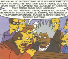 Simpsons Comics 39 CBG's opening statement 2.png