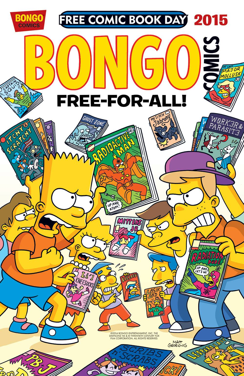 bongo comics free for all 2015 wikisimpsons the simpsons wiki