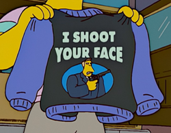 Shoot Your Face - Wikisimpsons, the Simpsons Wiki