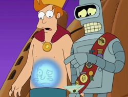 Futurama - Homer on Bender's sash.png