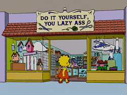 do it yourself you lazy ass wikisimpsons the simpsons wiki. Black Bedroom Furniture Sets. Home Design Ideas