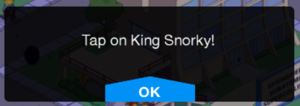 Tapped Snorky Message.png