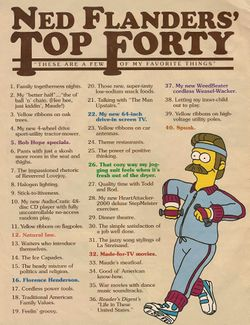 Ned Flanders' Top Forty - Wikisimpsons, the Simpsons Wiki