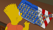 Bart looking at a book featuring the presidents