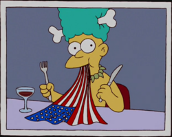 Mel eating US flag.png